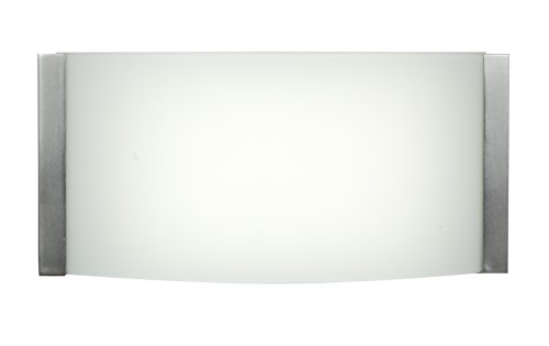"Access Lighting ACD8V Wave LED Bath Vanity, 2.9"" L x 9"" W x 4.4"" H, Brushed Steel/Opal from Access Lighting - HI"