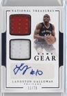 Langston Galloway #11/75 (Basketball Card) 2016-17 Panini National Treasures - Game Gear Dual Autographs #6 -