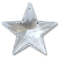 Swarovski 6714 Star Pendants, Transparent, Crystal, 28mm