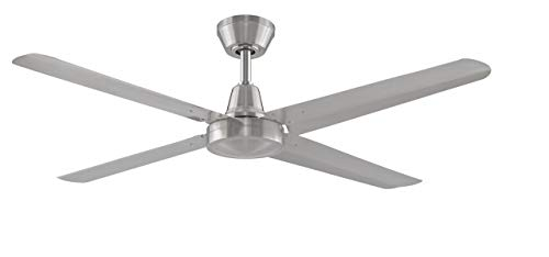 Fanimation Ascension FP6717BN High Power Indoor/Outdoor Ceiling Fan with 54-Inch Blades, 3 Speed Wall Control, Brushed Nickel (Renewed) ()