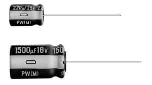 - Set of 10, Nichicon 105°C Electrolytic Capacitor 1uF 100V (1 mfd 100V) 20% Radial, 3/16