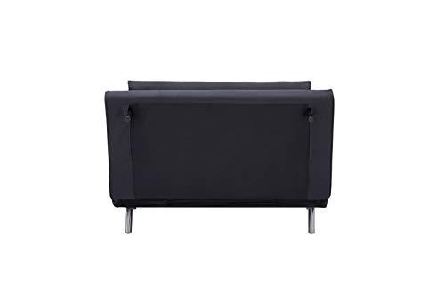 Marque Amazon – Movian Scutari – Canapé convertible 2places, 122x91x91cm, Noir