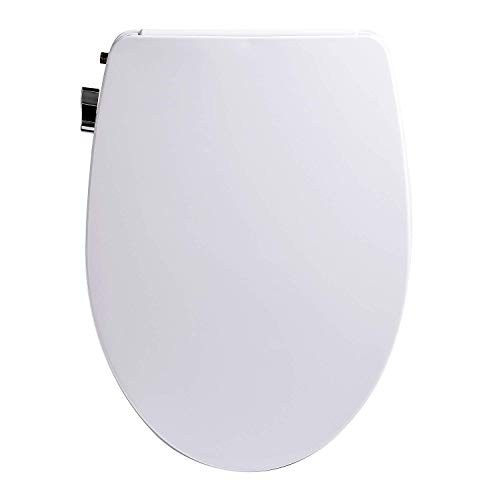 - Bio Bidet A5 Stream - Non Electric Bidet Toilet Seat, for Elongated Toilet, Dual Nozzle, Unified Brass Valve, Inlet and T-Valve - Easy to use Chrome Plated Side Lever, DIY Installation