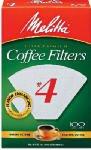 Melitta 624102 100-Pk. #4 White Cone Coffee Filters - Quantity 12