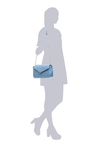 a Sac Sac LaBante Femme Vegan Cuir PU Sac Sac Femme Petit Sac Kensington Femme Femmes bandouliere Pochette Matelasse Main Bleu bandouliere Petit PUTU8qdw