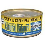 Natural Balance Duck and Green Pea for Cats - 6 oz Can
