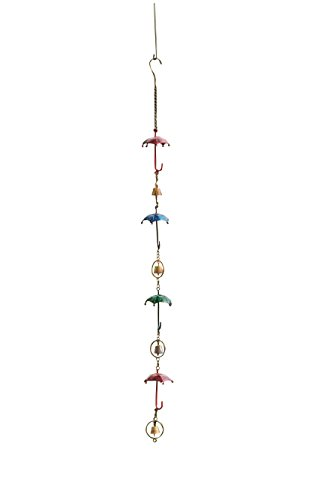 - Ancient Graffiti Multicolor Umbrellas & Bells Wind Chime, 4