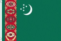Turkmenistan Large 3 X 5 Feet Country Flag Banner .. Great Quality ... New