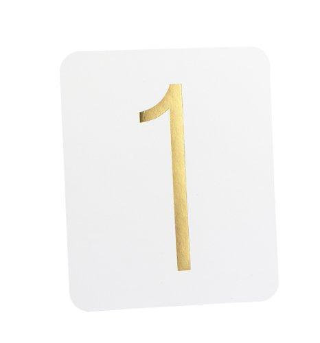 Hortense B. Hewitt - Accesorios de mesa para boda (1 a 40), Gold Foil on White, 15.24 cm, 1
