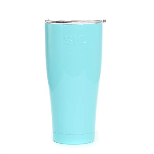 Seafoam Blue Powder Coated 30 Oz. SIC  Stainless Steel Tumbl