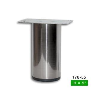 Alpha Furnishings Sleek Brushed Satin Steel Straight Metal Leg 5 Quot H Amazon Com