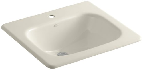 KOHLER K-2895-1-47 Tahoe Self-Rimming Bathroom Sink with Single-Hole Faucet Drilling, Almond ()