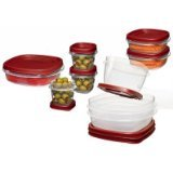 Rubbermaid 1777170 Chili Red Easy Find Lid Food Storage Containers 18 Count