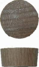 1/2 IN Walnut Flat Top Plugs