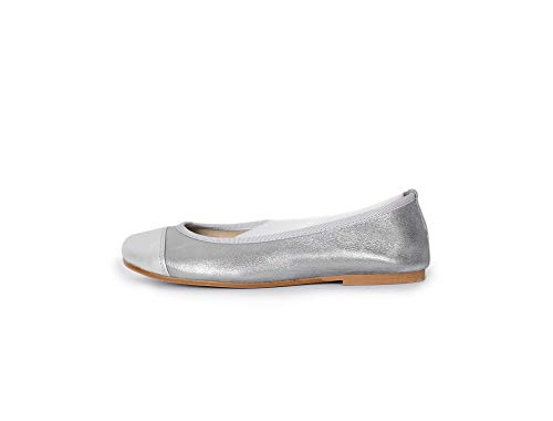 9a95a2259248 ChildrenChic Leather Ballet Flats with Contrast Cap-Toes. Shoes for Girls  (Infant