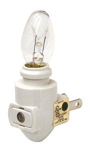 - White Sensor Night Light With 4w Bulb - 6 Pack