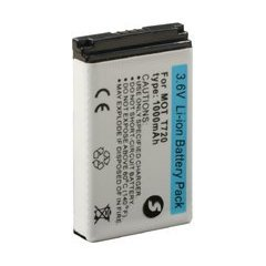 Motorola T720 T720i T722 T725 T730 3.7V 1000mAh Extended Life Li-ion Battery & Cover