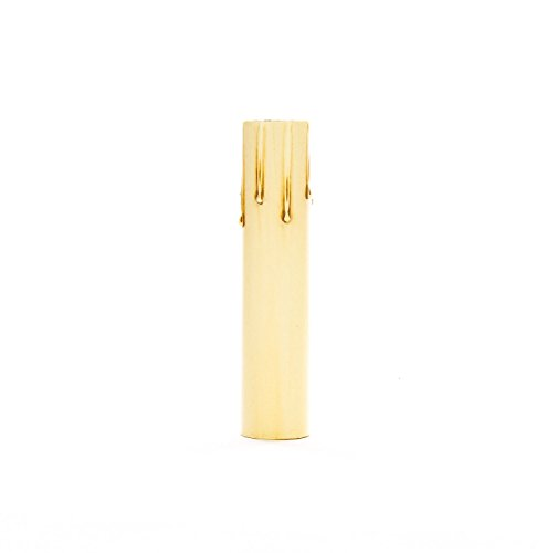 Upgradelights 6 Inch Ivory Fibre Drip Candle Cover Replacement with Edison Base