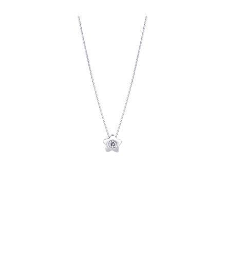 cerca le ultime gamma completa di articoli boutique outlet Gioielli di Valenza Collana con Pendente a Stella in Oro Bianco 18k con  Diamanti