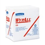 Wypall X70 1/4-Fold White Wipes, 12.5'' X 13'', White, 12 Packs/Case
