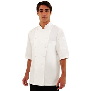 Chef Works Men's Capri Executive Chef Coat, White, 38 by Chef Works