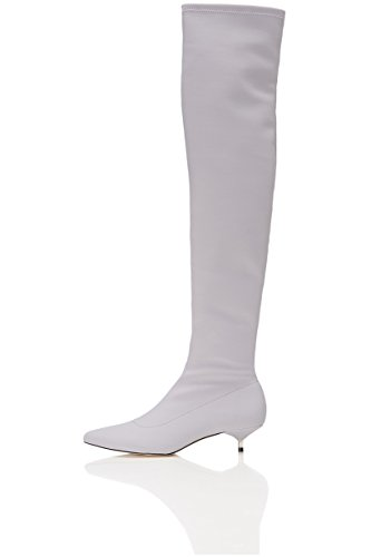 Knee WoMen Neoprene Stretch in Grey Length Boots in FIND High fqxaWgUUn