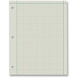 Ampad Green Tint Engineers Quadrille Pad - 200 Sheets - Printed - Both Side Ruling Surface - 15 lb Basis Weight - Letter 8.50in. x 11in. - Green Tint Paper - 200 / - Ampad Green Tint Engineer Pads