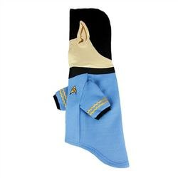 Star Trek Spock Dog Costume (Star Trek Spock Dog Hoodie - Fits any size dog Sm - Plush Embroidered Ears and Sweatshirt Material)