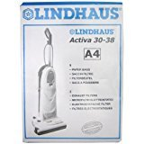 Genuine Lindhaus A4 Activa Diamante Dynamic Vacuum Cleaner Bag 8 Bags