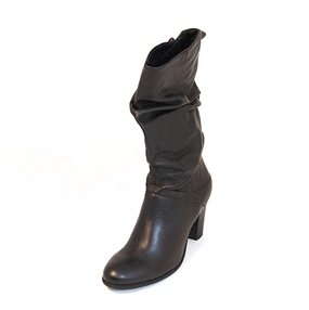 Steve Madden Women's Lorreta Slouch Boot,Black Leather,8.5 M US by Steve Madden