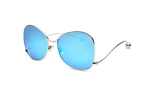De De De Bola Azul Gafas Sol Curvada De De Reflexivo Sol Gafas De De Nueva Tamaño Hielo Sol De Sol Gafas liwenjun Marco Gafas Acero Tabletas De Gran Plata Gafas fUxw5Fnqn