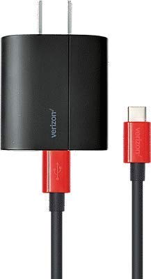 Verizon USB Type-C Wall Charger With Fast Charge Technology For Galaxy Book Samsung Galaxy S8+,S8, LG G6, LG V20, Google Pixel, Pixel XL & Most Type-C Devices (Frustration Free Packaging) (Phone Charger Verizon Wall)