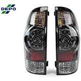 DEPO 2005-2014 Toyota Tacoma Facelift Style SMOKE LED Tail Light Set