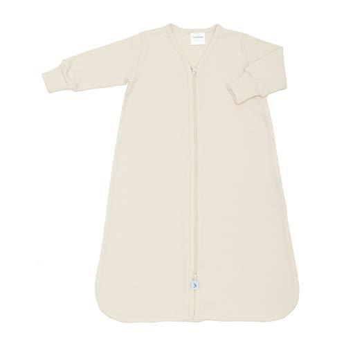 CastleWare Baby Organic Rib Knit Sleeper Bag- Long Sleeve- Newborn-4 Years (Large 12-18 Mos, Natural) (Best Baby Back Ribs In Los Angeles)