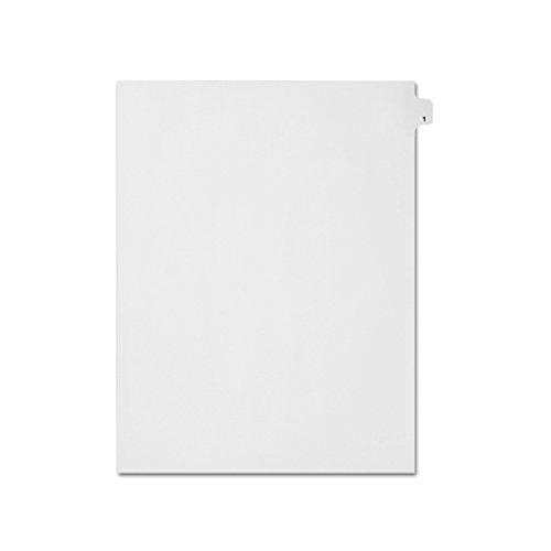 - AMZfiling Individual Legal Index Tab Dividers, Compatible with Avery- Number 1, Letter Size, White, Side Tabs, Position 1 (25 Sheets/pkg)