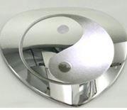 Magnet Heart Body Magnet Gegenstück mit Yin Yang TAO Gravur für Energetix 4you 1114 oder 177 Magnetix PowerDuo Powerherz PP 1