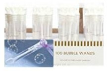 100 Special Occasion Ready Ring Bubble Wand Party Favors ()