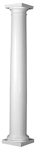 Endura-Stone Round Tapered Column (FRP), Smooth Paint-Grade, Tuscan Capital & Base, 8