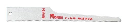 Air Saw Blade (MK Morse RBA424T05 24TPI Air Saw Reciprocating Blade, 4-Inch, 5-Pack)