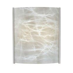 Embrace Glass Panel Shade Finish: Alabaster (Thomas Lighting White Drum)