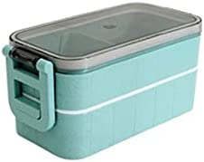 huangsgoufh Lunch Kit, Lunch Box,2-Layer Bento Box With Spoon & Fork For Adult And Office Worker, BPA-Free Wheat Fiber Leak-Proof Food Containers With (Size : A)