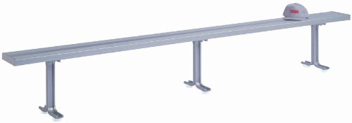 Aluminum Room Benches Locker - Lyon NF5827 Aluminum Locker Room Bench with 3 Pedestals, 120