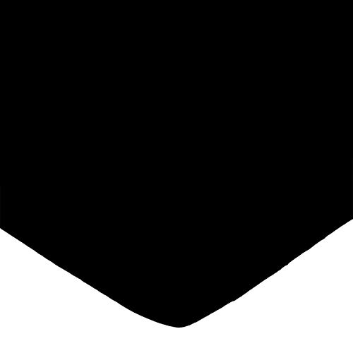 SheetWorld Fitted 100% Cotton Jersey Portable Mini Crib Sheet 24 x 38, Solid Black, Made In USA
