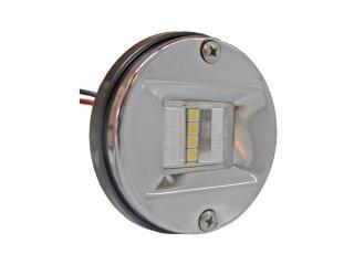 2644 – LED Stern Licht Edelstahl rund 7,6 x 5,1 cm – USCG 2 Nm von NAUTOS – FO