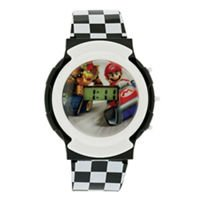 Nintendo Kids' NMK3413 Mario Flashing LCD Watch (Bowsers Kids)