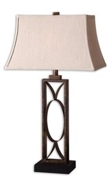 Uttermost 'Manicopa' Metal Table Lamp - Metallic