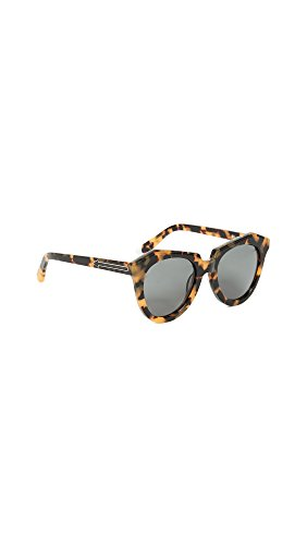 Karen Walker Women's The Number One Sunglasses, Crazy Tort, One - Walker Frames Karen