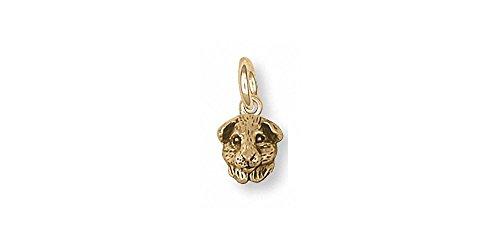 Guinea Pig Jewelry 14k Gold Guinea Pig Charm Handmade Piggie Jewelry GP4H-CG