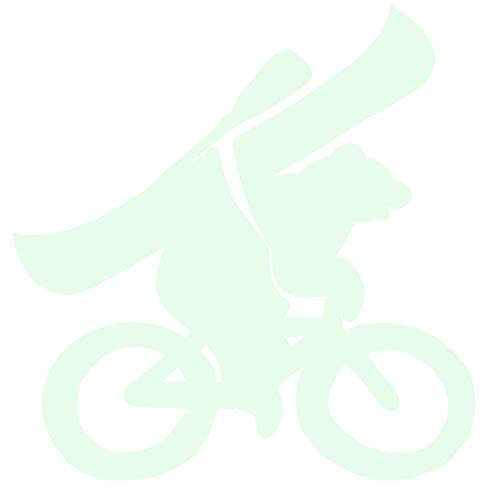hBARSCI Biking Bear with Canoe Vinyl Decal - 5 Inches - for Cars, Trucks, Windows, Laptops, Tablets, Outdoor-Grade 6mil Thick Vinyl - Glow in The Dark