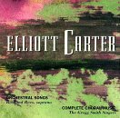 Carter: Orchestral Songs / Complete Choral Music by Composers Recordings